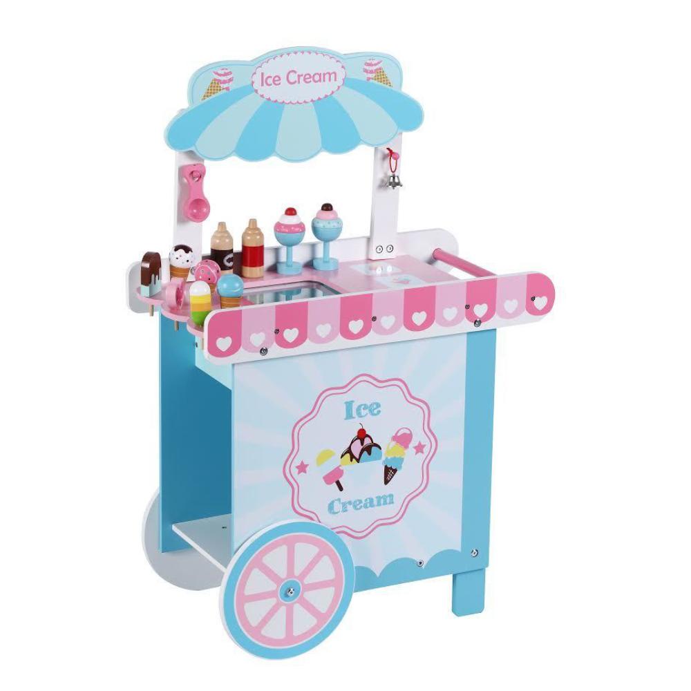 עגלת גלידה מעץ לילדים PITOYS